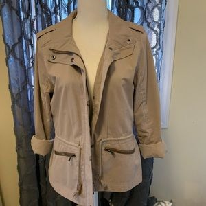 Hollister Tan Army Jacket LARGE